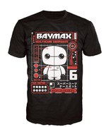 Disney Big Hero 6 Baymax Pop! T-Shirt - Black