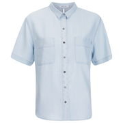 OBEY Clothing Women's St Gilles Short Sleeve Shirt - Chambray