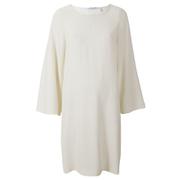 Helmut Lang Women's Satin Back Crepe Scoop Tunic Dress - Ivory