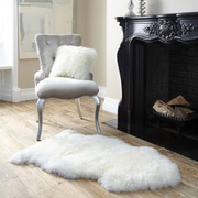 Tapis en peau de mouton Royal Dream - Neutre