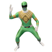 Morphsuit Power Rangers Green Ranger - Volwassene