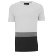 Religion Men's Panelled Crew Neck T-Shirt - White