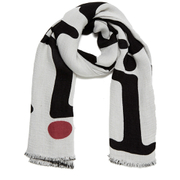 Paul Smith Accessories Men's Independent Mind Scarf - Optical White
