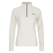 The North Face Women's Glacier Quarter Zip Fleece - Vintage White