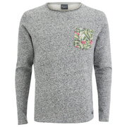 Jack & Jones Men's Originals Boom Pocket Sweatshirt - Light Grey Melange