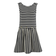 Maison Kitsuné Women's Marin Bali Dress - Black/White