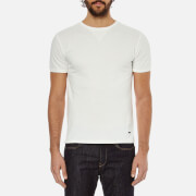 BOSS Orange Men's Toern Collar Detail T-Shirt - White