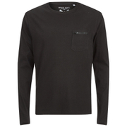 Brave Soul Men's Wolfgang Zip Pocket Long Sleeve Top - Black
