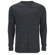 Brave Soul Men's Dalius Zip Pocket Long Sleeved Top - Black Marl
