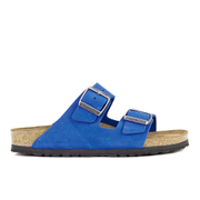 Birkenstock Women's Arizona Slim Fit Suede Double Strap Sandals - Blue