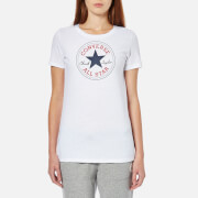 Converse Women's Chuck Patch Crew T-Shirt -Converse White