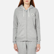 Converse Women's Full Zip Hoody - Vintage Grey Heather