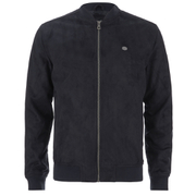 Threadbare Men's Milton Suedette Bomber Jacket - Navy