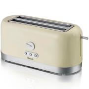 Swan ST10090CREN 4 Slice LongSlot Toaster - Cream