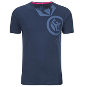 Crosshatch Men's Pacific Print T-Shirt - Insigia Blue