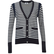 Sonia by Sonia Rykiel Women's Bicolor Striped Cardigan - Navy/White