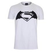 DC Comics Batman vs. Superman Logo Heren T-Shirt - Wit