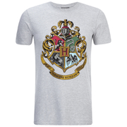 Harry Potter Hogwarts Logo Herren T-Shirt - Grau