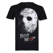 Friday The 13Th Jason Mask Heren T-Shirt - Zwart