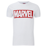 Marvel Comics Core Logo Heren T-Shirt - Wit