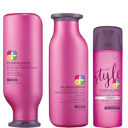 Pureology Smooth Perfection Shampoo, Conditioner (250 ml) & Serum (150 ml)