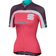 Sportful Gruppetto Women's Short Sleeve Jersey - Pink/White/Purple