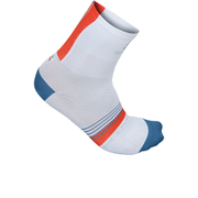 Sportful BodyFit Pro 9 Socks - White/Blue/Red