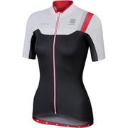 Sportful BodyFit Women's Short Sleeve Jersey - Black/White/Pink