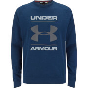 Under Armour Men's Tri-Blend Chest Graphic Crew Sweatshirt - Navy Blue