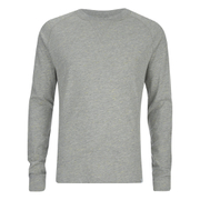 Jack & Jones Men's Core Inc Long Sleeve T-Shirt - Light Grey Marl