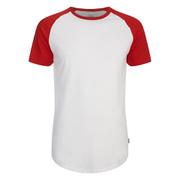 Jack & Jones Men's Originals Stan Raglan Sleeve T-Shirt - Formula One/White