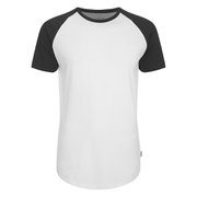 Jack & Jones Men's Originals Stan Raglan Sleeve T-Shirt - Black/White