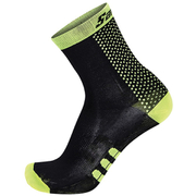 Santini Two Medium Profile Socks - Black/Yellow