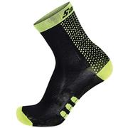 Santini Two Medium Profile Socks - Black/Yellow