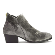 H Shoes by Hudson Women's Apisi Velvet Heeled Ankle Boots - Grey