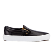 Vans Women's Classic Slip-On Metallic Trainers - Black/Gold