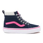 Vans Kids' Sk8-Hi Zip Trainers - Navy/Pink