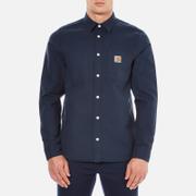 Carhartt Men's Long Sleeve Tony Shirt - Navy Rigid