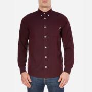 Carhartt Men's Long Sleeve Dalton Shirt - Chianti/Navy