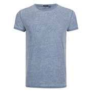 Brave Soul Men's Gonzalo Burnout T-Shirt - Ink Blue