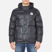 Converse Men's All Star Core Short Hooded Puffer Jacket - Black