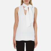 MICHAEL MICHAEL KORS Women's Tie Neckline Top - White
