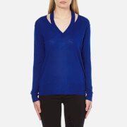 MICHAEL MICHAEL KORS Women's Slash V-Neck Sweatshirt - Royal