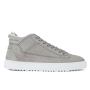 ETQ. Men's Mid Top 2 Leather Trainers - Alloy