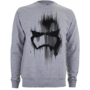 Star Wars Mens Storm Trooper Mask Sweatshirt - Lichtgrijs