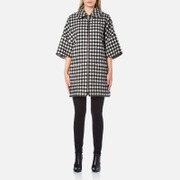 A.P.C. Women's Checked Zip Cape - Black/White