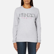 KENZO Women's Paris Logo Sweatshirt - Light Grey