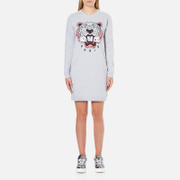 KENZO Women's Tiger Sweater Dress - Light Grey