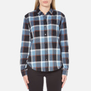 OBEY Clothing Women's Ruby Lake Button-Down Shirt - Blue Multi