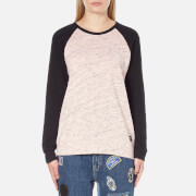 OBEY Clothing Women's Jackson Raglan Long Sleeve Top - Peach/Heather Black